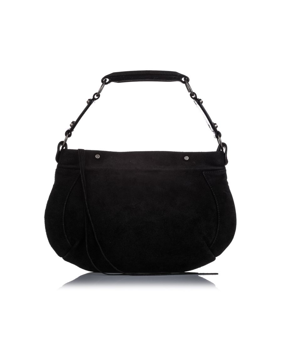 Image for Vintage Balenciaga Suede Hobo Bag Black