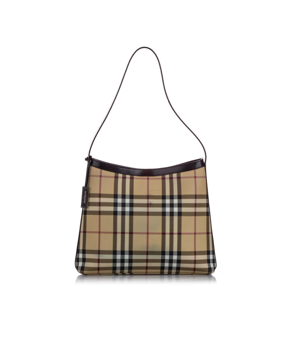 Image for Vintage Burberry House Check Shoulder Bag Brown