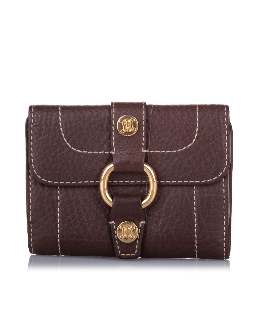 Image for Vintage Celine Leather Small Wallet Brown