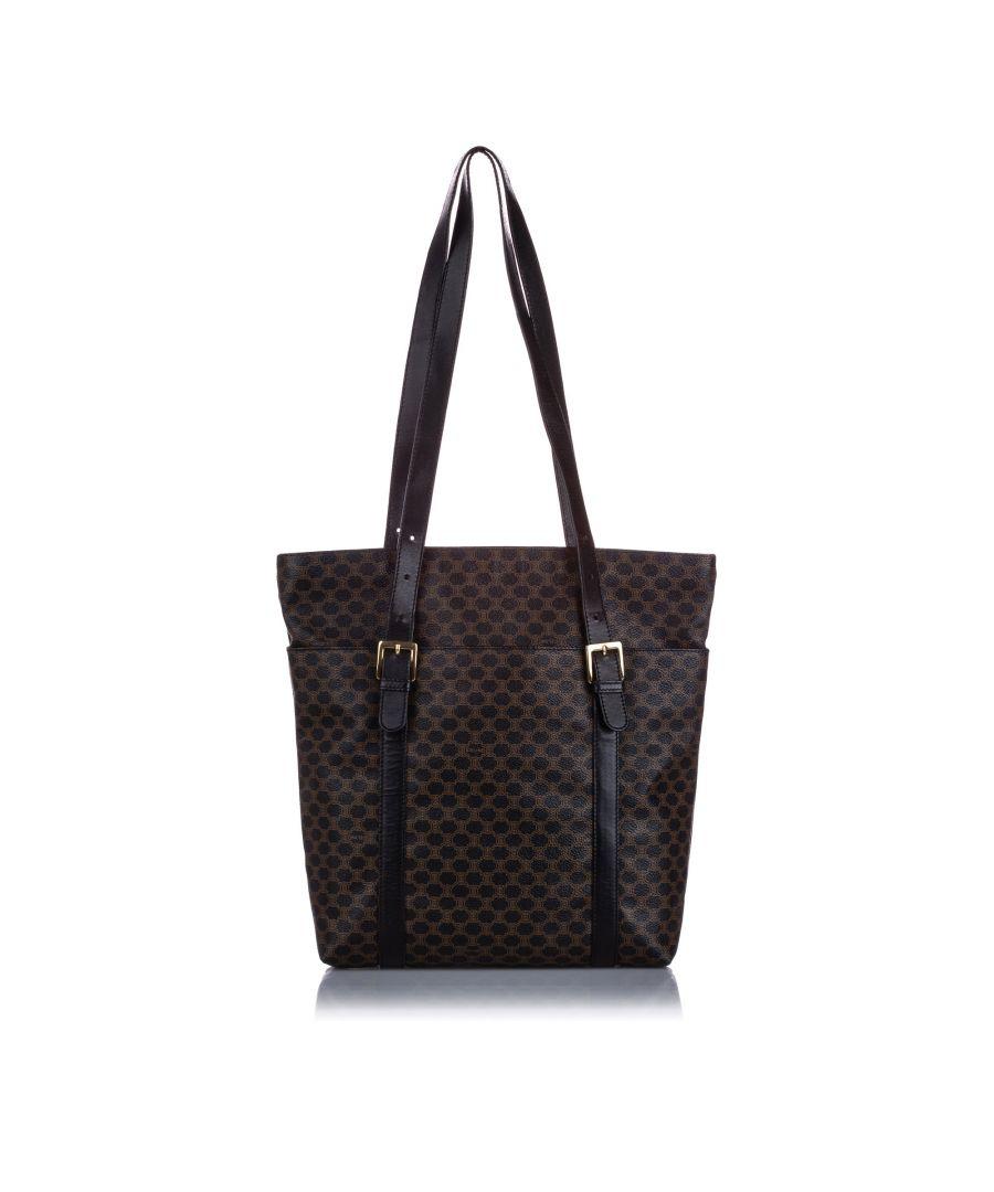Image for Vintage Celine Macadam Tote Bag Black