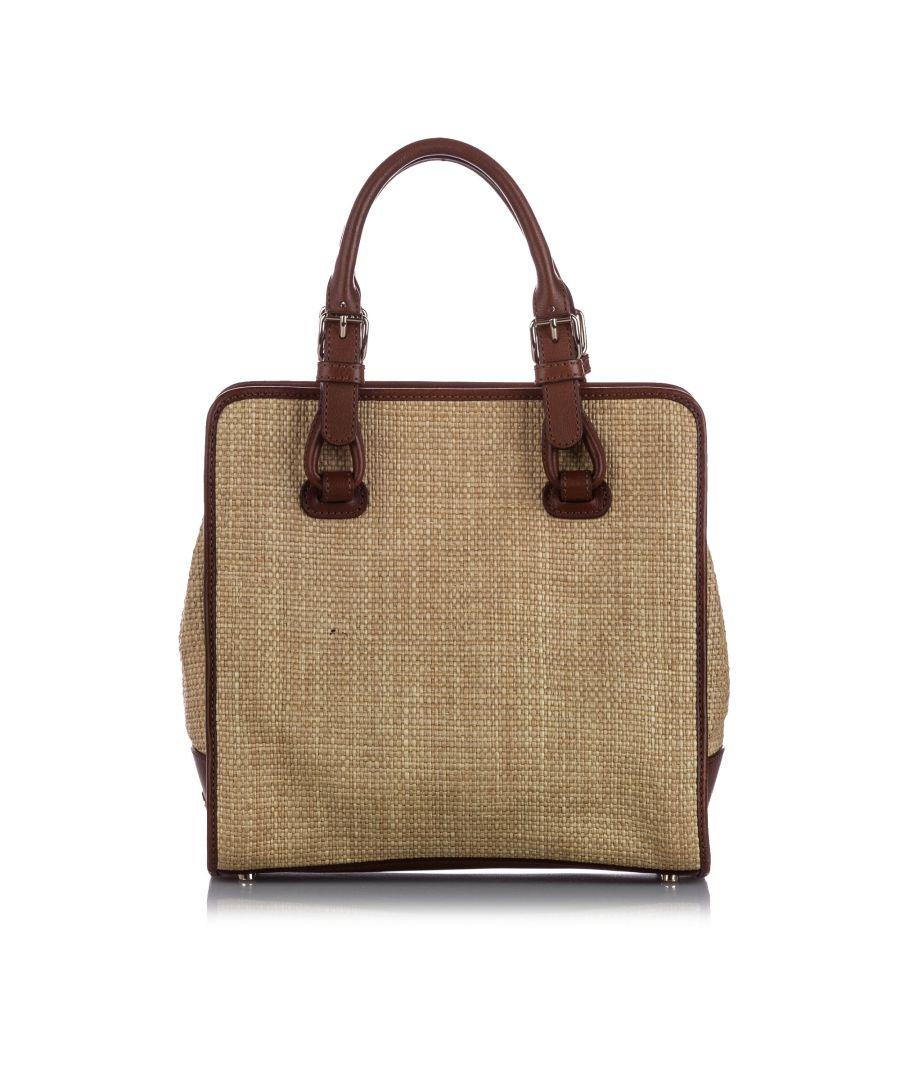 Image for Vintage Celine Raffia Tote Bag Brown