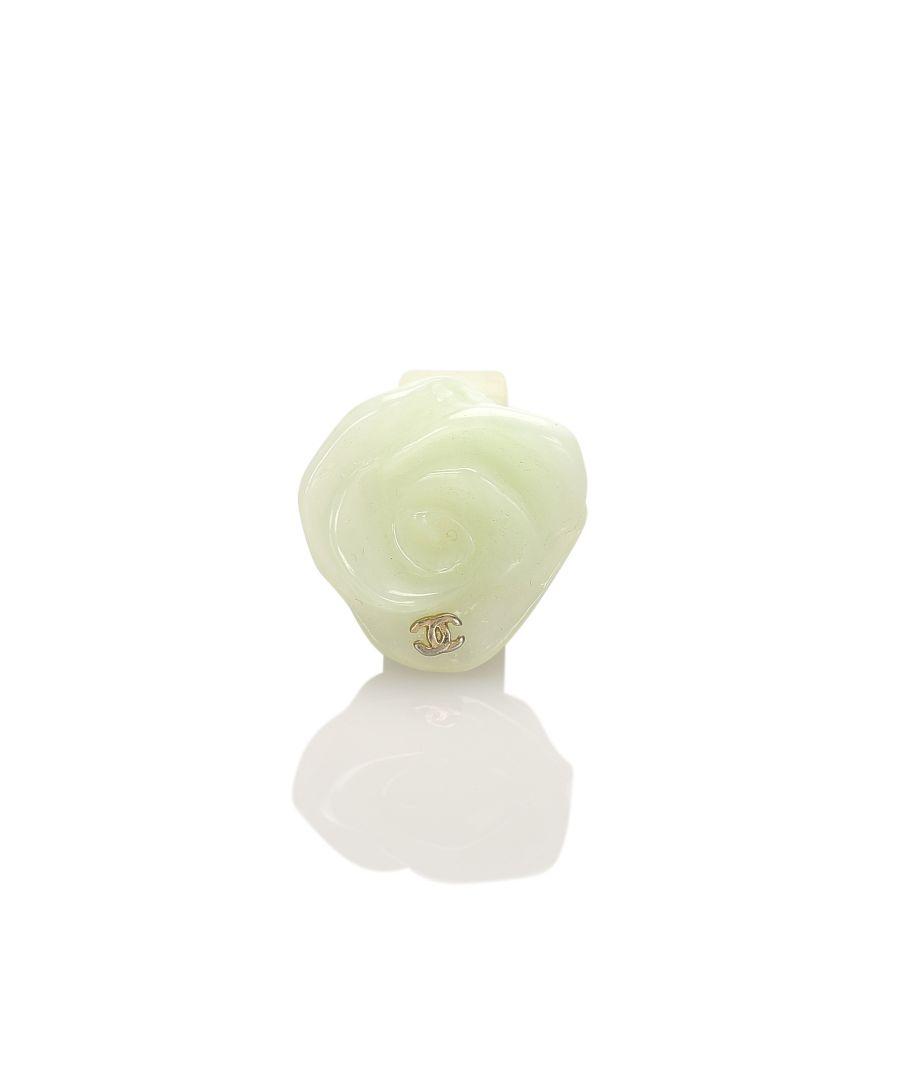 Image for Vintage Chanel Camellia Ring Green
