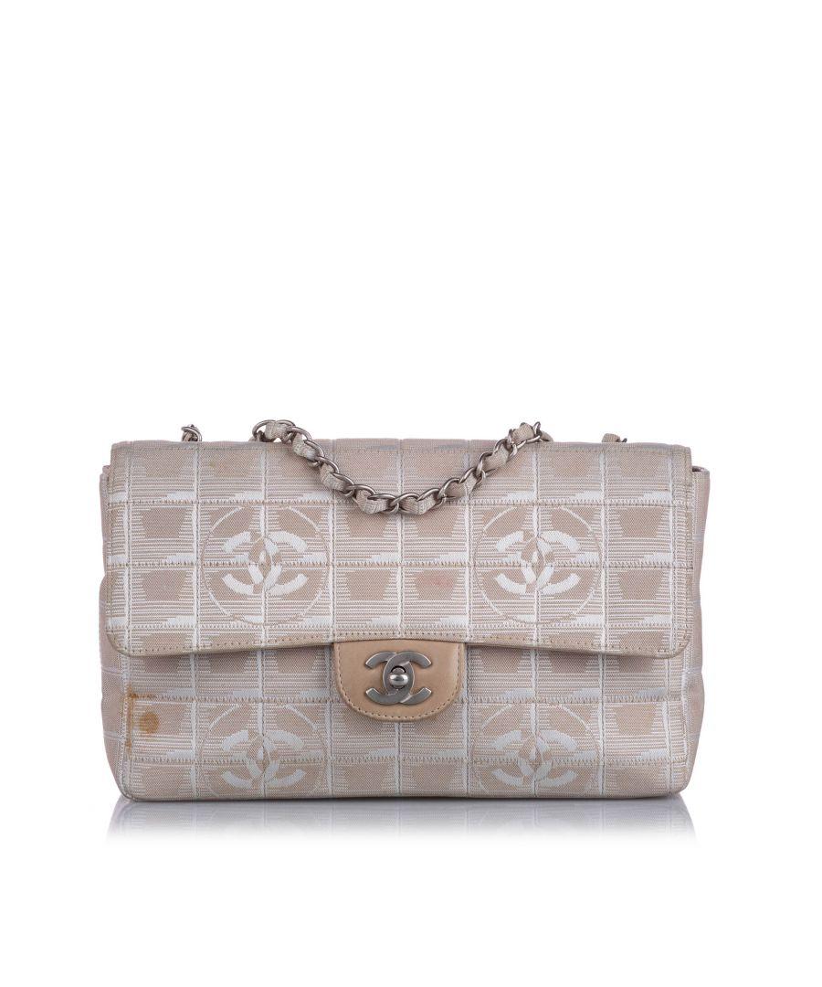 Image for Vintage Chanel New Travel Line Nylon Shoulder Bag Brown
