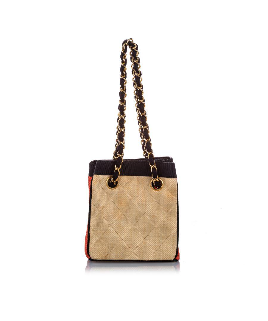 Image for Vintage Chanel Classic Canvas Shoulder Bag Brown