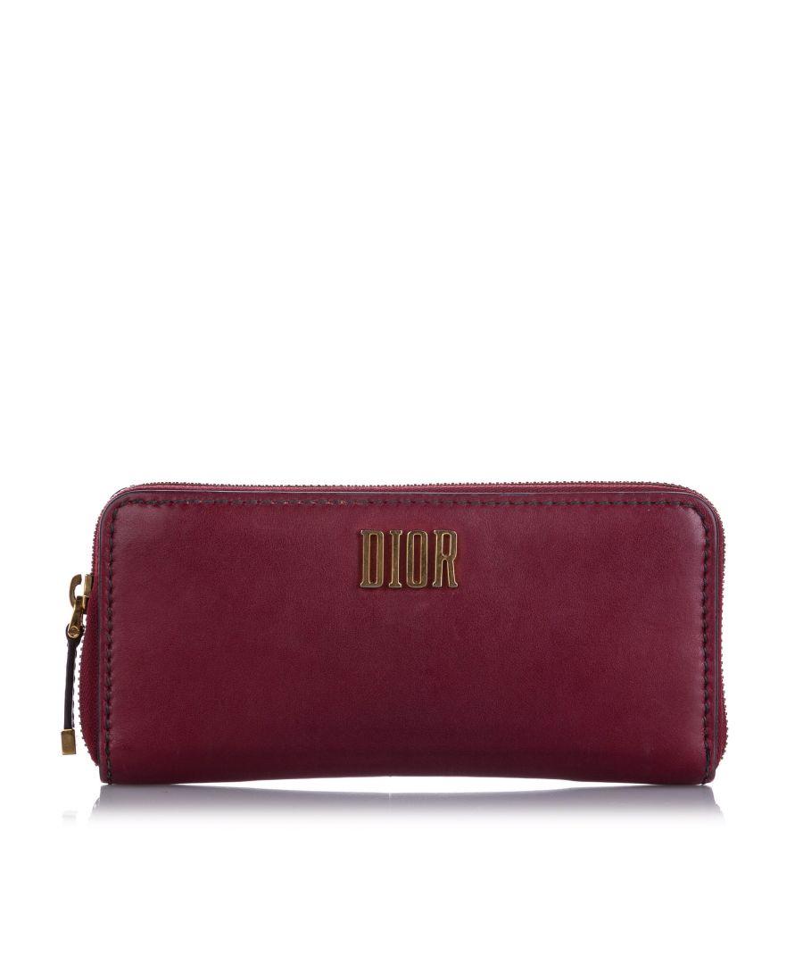 Image for Vintage Dior Leather Long Wallet Red