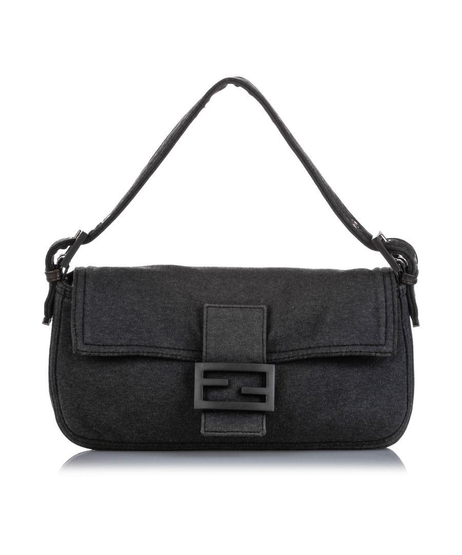 Image for Vintage Fendi Mamma Cotton Baguette Gray