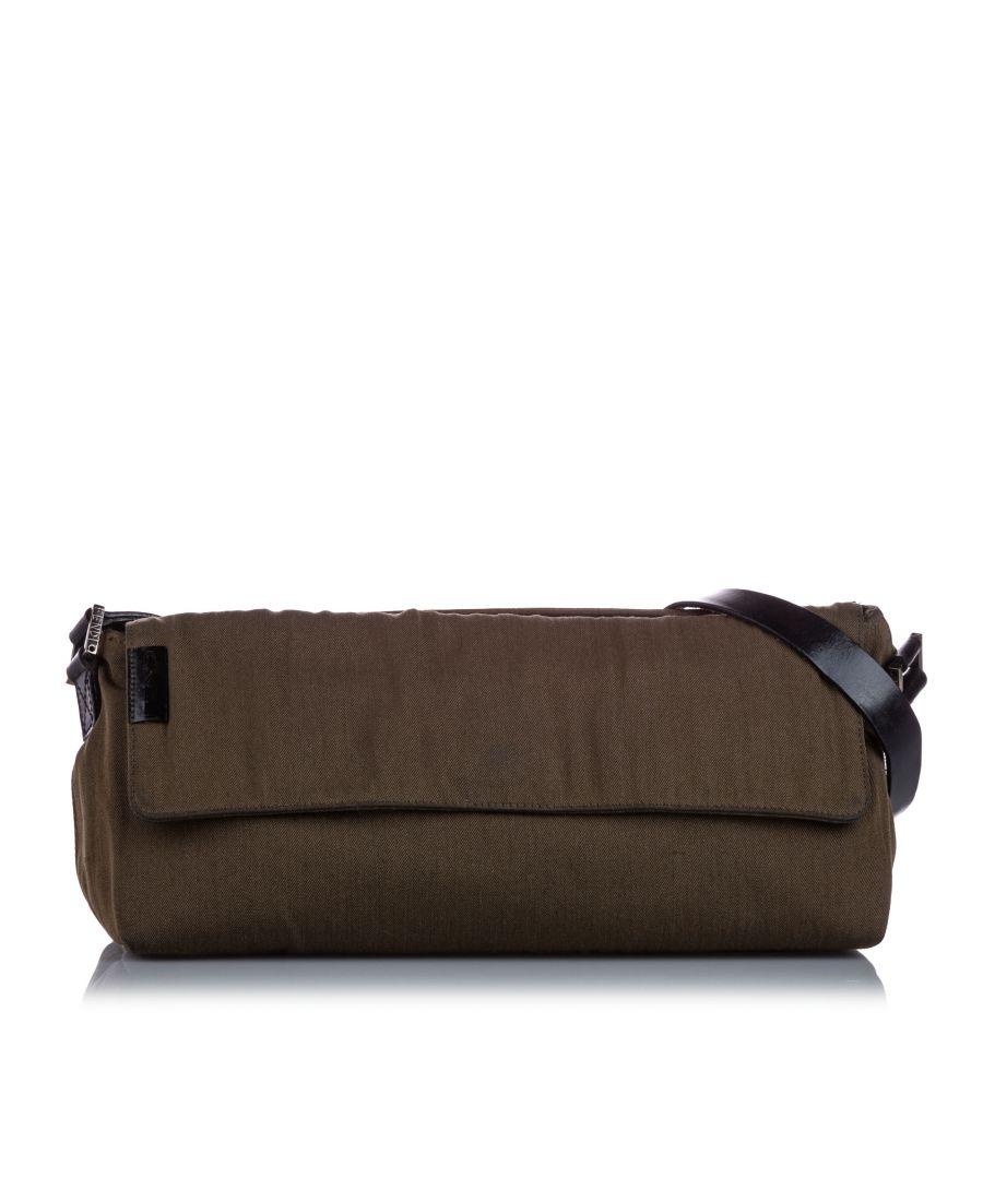 Image for Vintage Fendi Canvas Shoulder Bag Brown