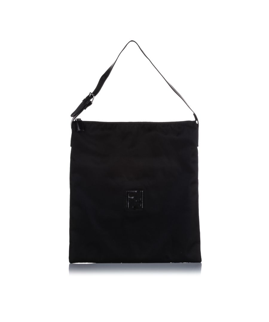 Image for Vintage Fendi Nylon Tote Bag Black