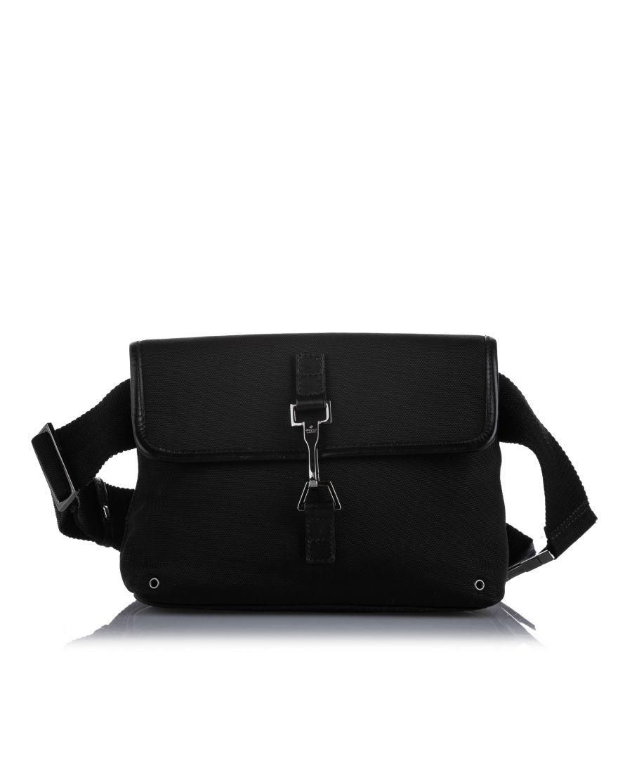 Image for Vintage Gucci Jackie Canvas Belt Bag Black