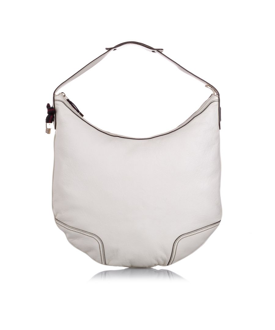 Image for Vintage Gucci Princy Leather Hobo Bag White