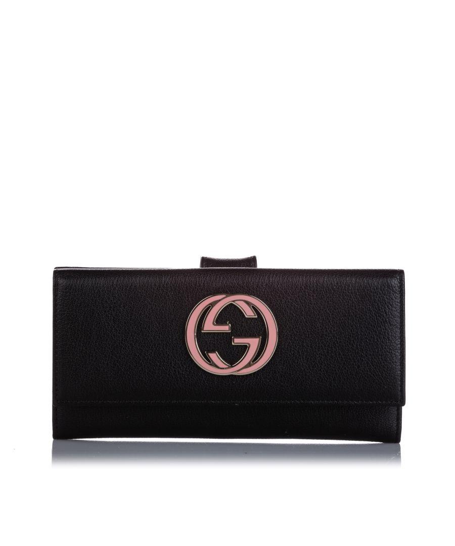 Image for Vintage Gucci Blondie Leather Wallet Black