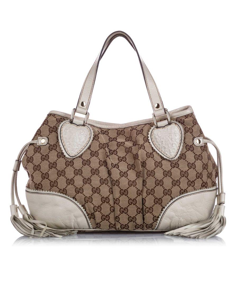 Image for Vintage Gucci GG Canvas Tribeca Shoulder Bag Brown