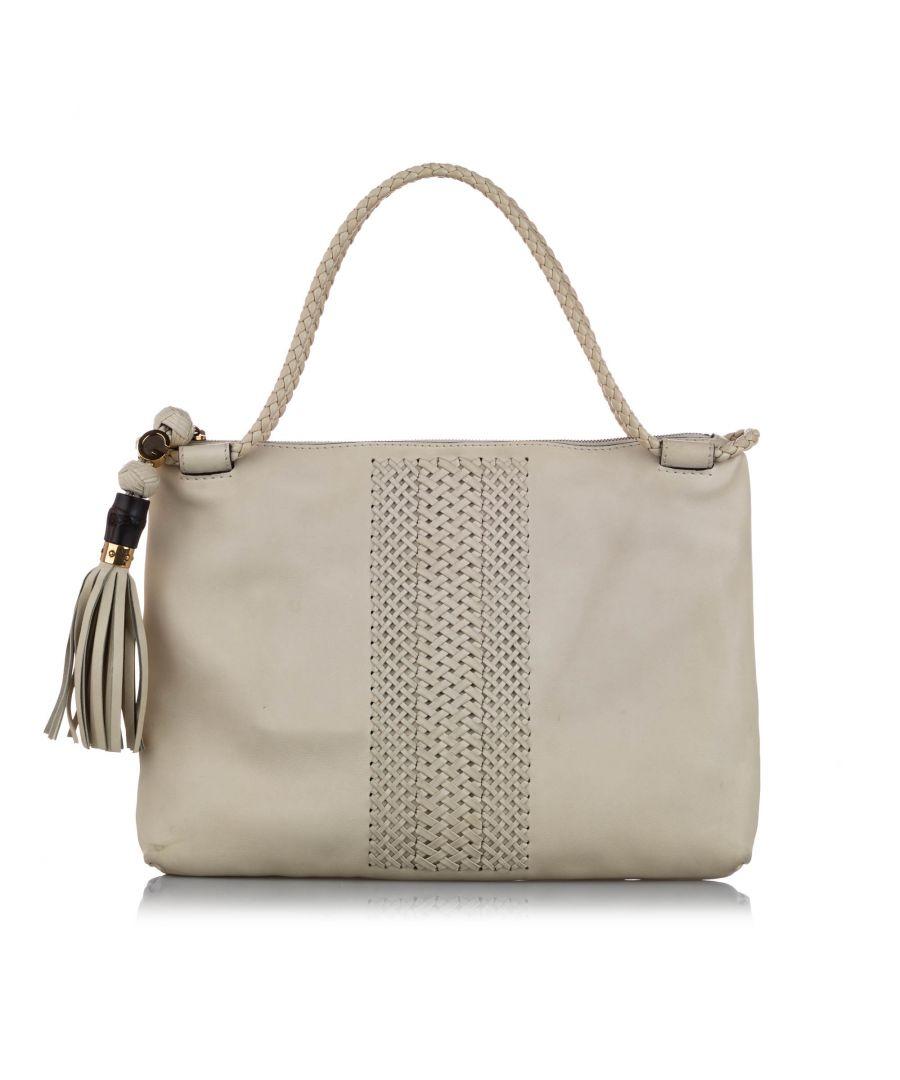 Image for Vintage Gucci Handmade Leather Shoulder Bag White