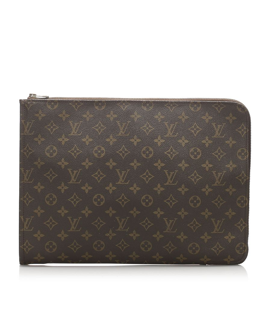Image for Vintage Louis Vuitton Monogram Poche Documents Portfolio Brown