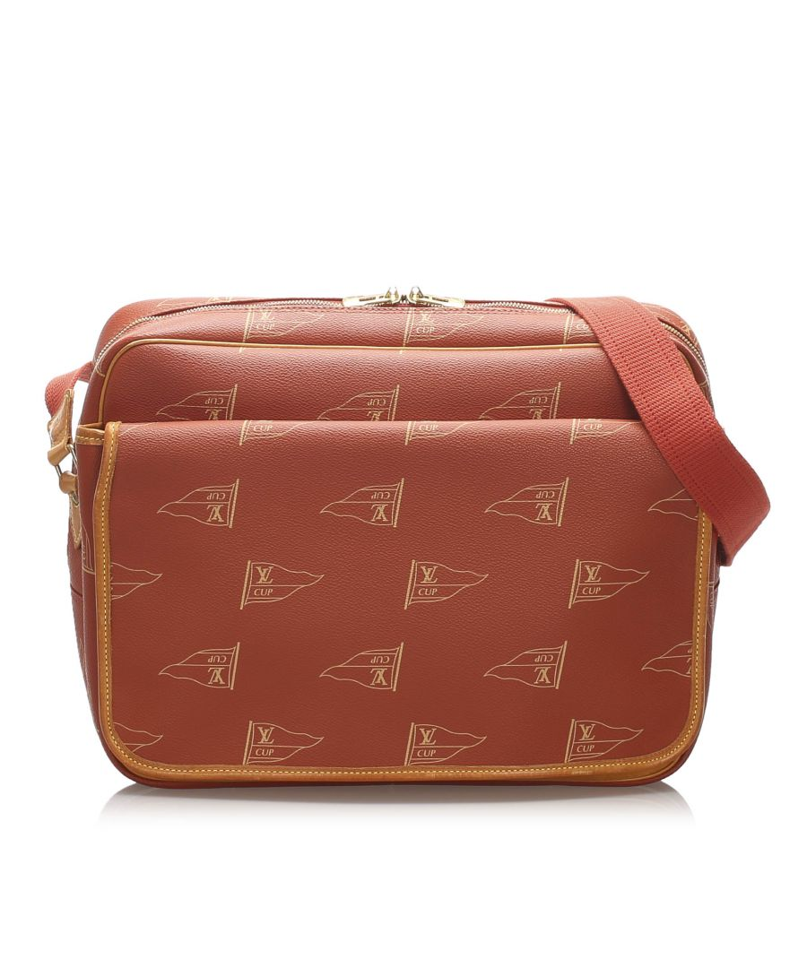 Image for Vintage Louis Vuitton Americas Cup Calvi Messenger Bag Red