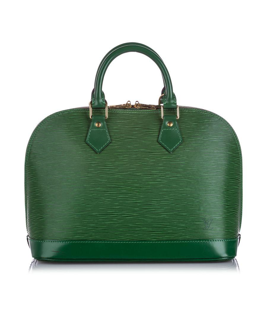 Image for Vintage Louis Vuitton Epi Alma PM Green