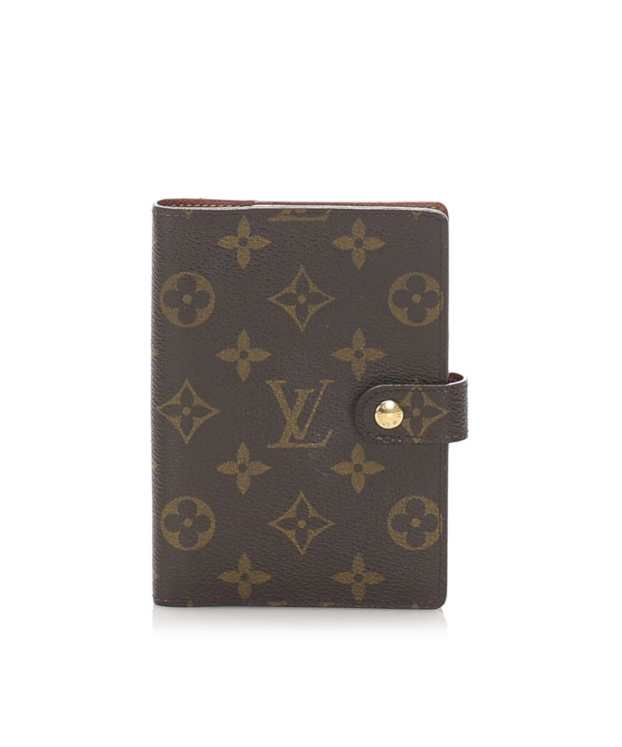 Image for Vintage Louis Vuitton Monogram Agenda PM Brown