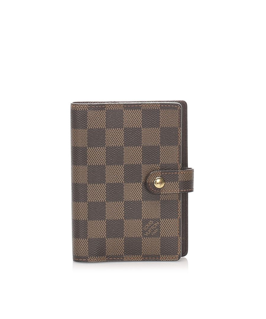 Image for Vintage Louis Vuitton Damier Ebene Small Ring Agenda Brown