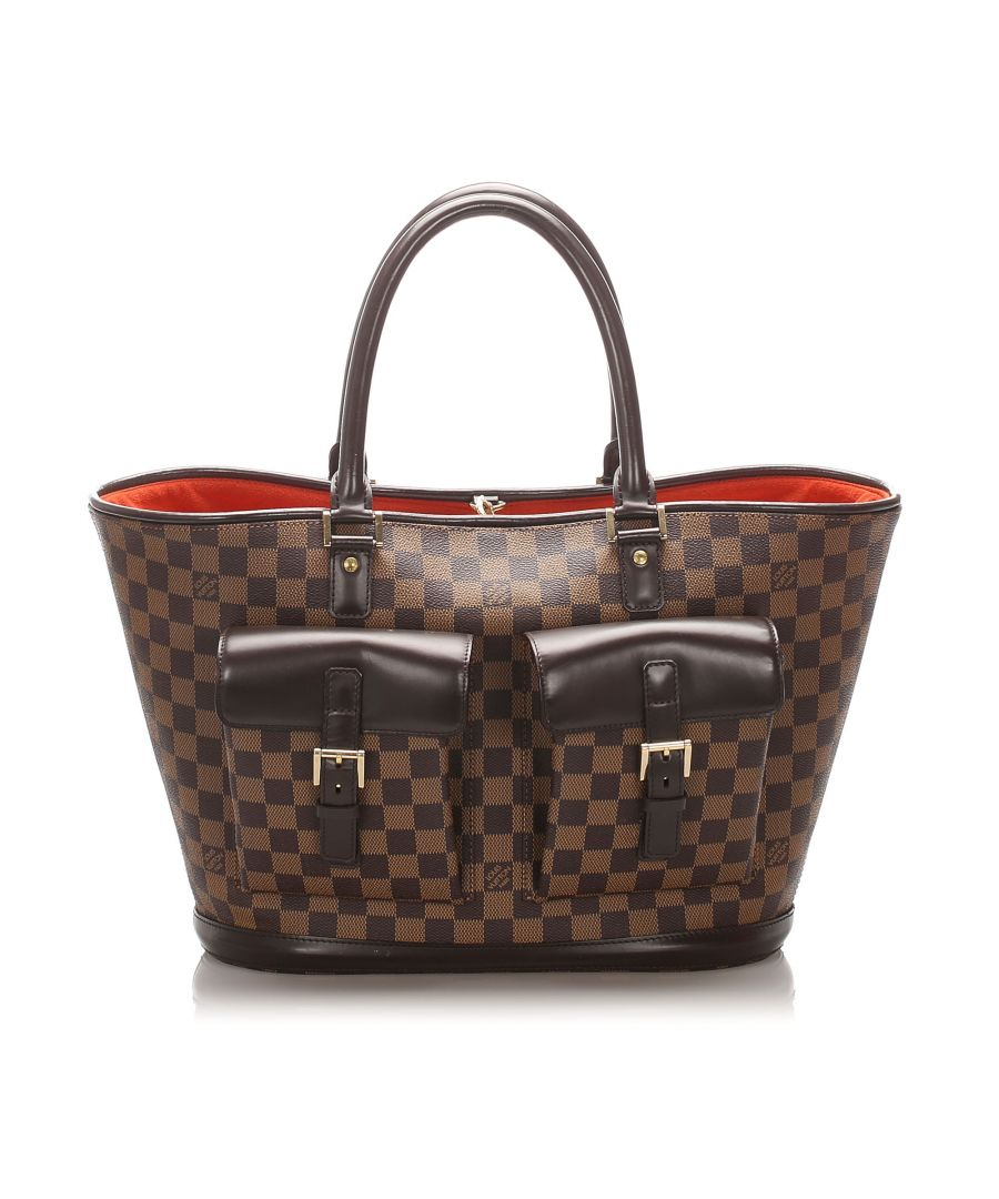 Image for Vintage Louis Vuitton Damier Ebene Manosque GM Brown