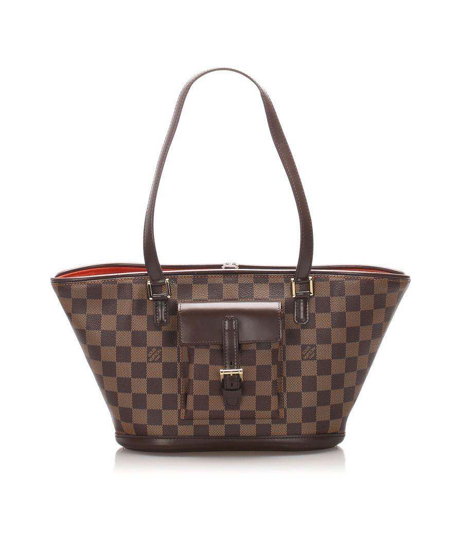 Image for Vintage Louis Vuitton Damier Ebene Manosque PM Brown