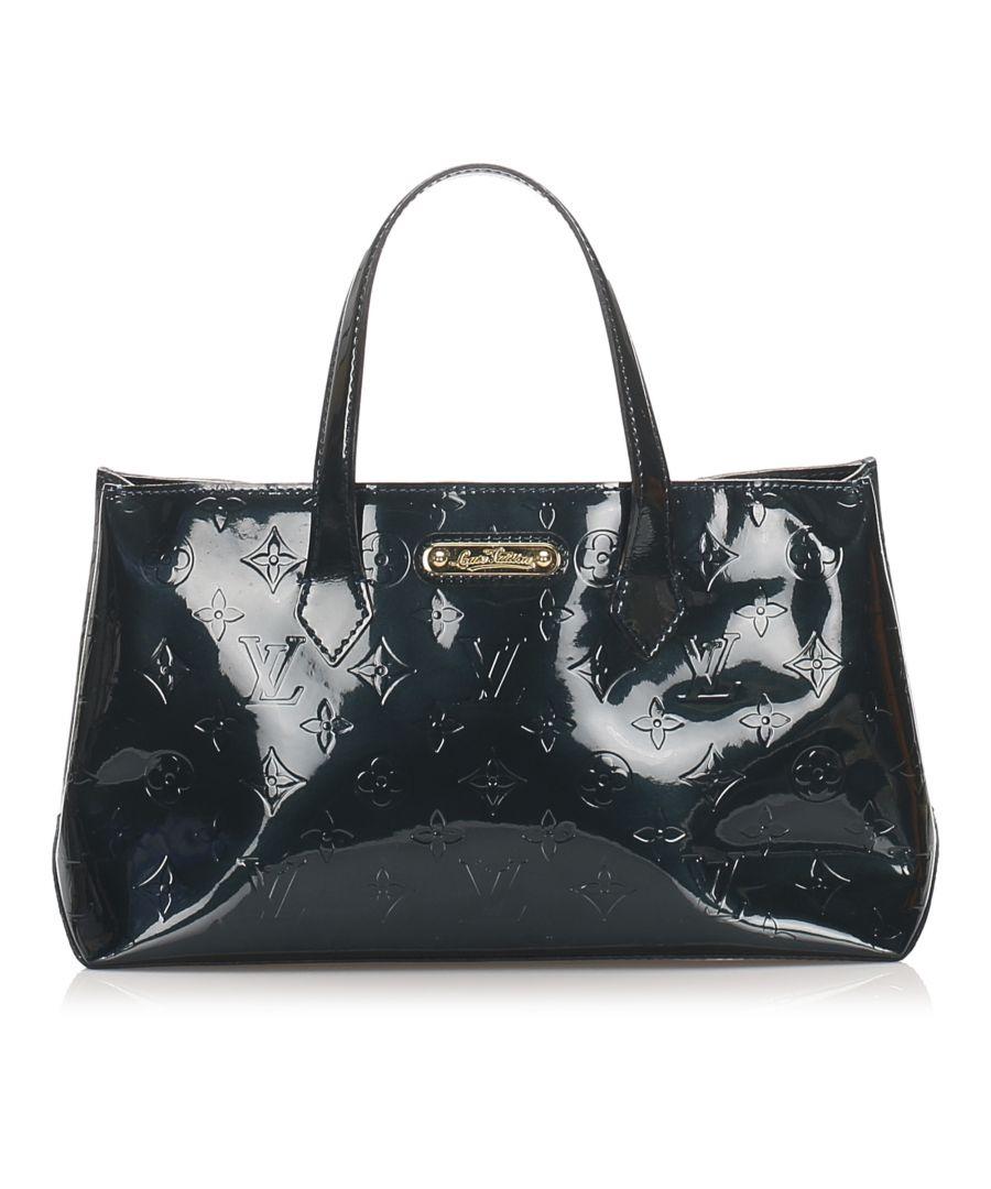 Image for Vintage Louis Vuitton Vernis Wilshire PM Blue