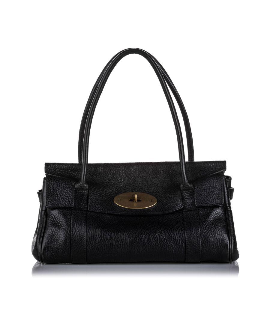 Image for Vintage Mulberry Bayswater Leather Handbag Black