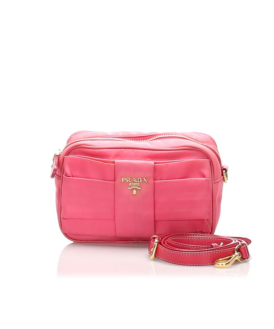 Image for Vintage Prada Fiocco Bow Tessuto Crossbody Bag Pink