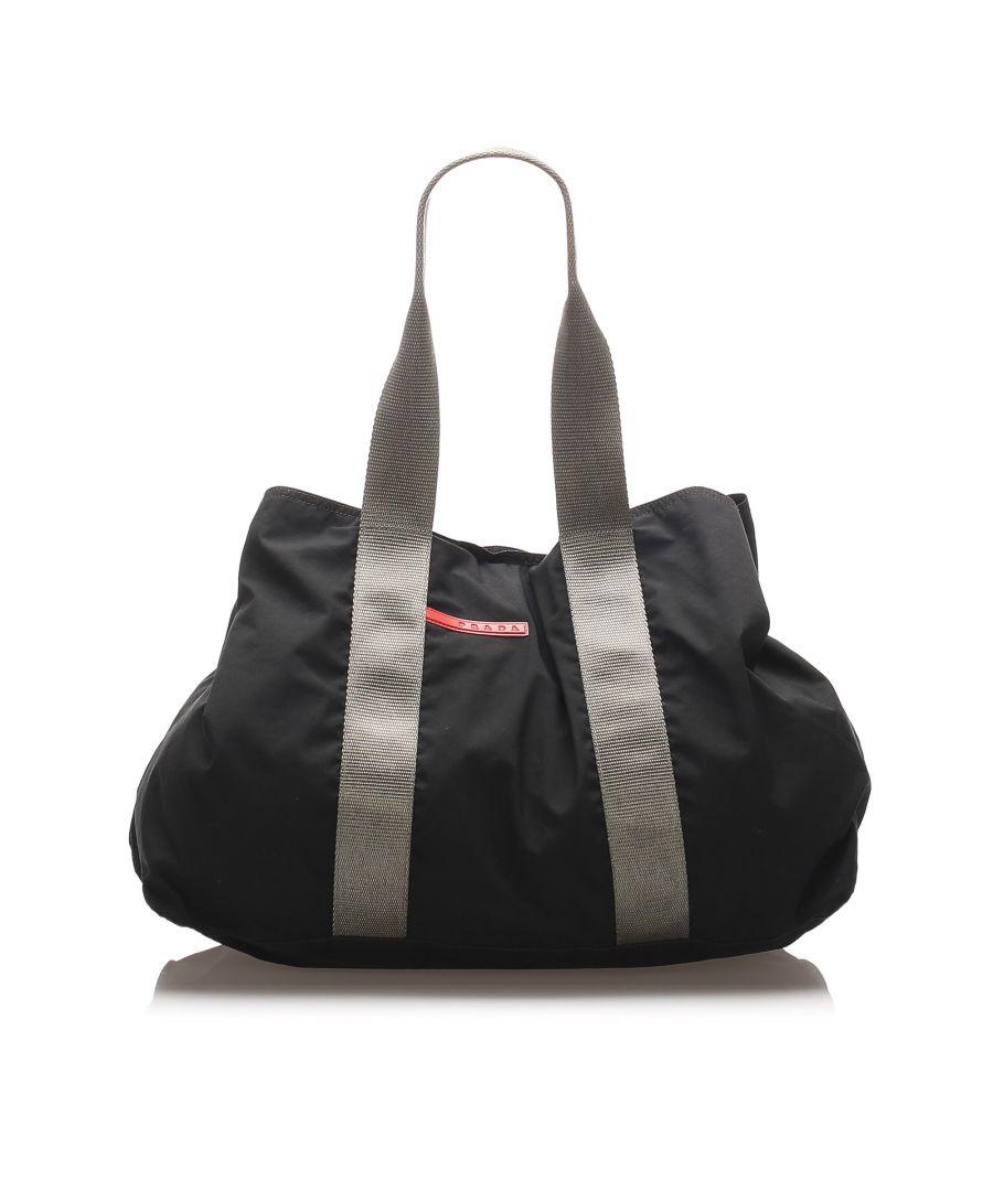 Image for Vintage Prada Nylon Sport Tote Bag Black