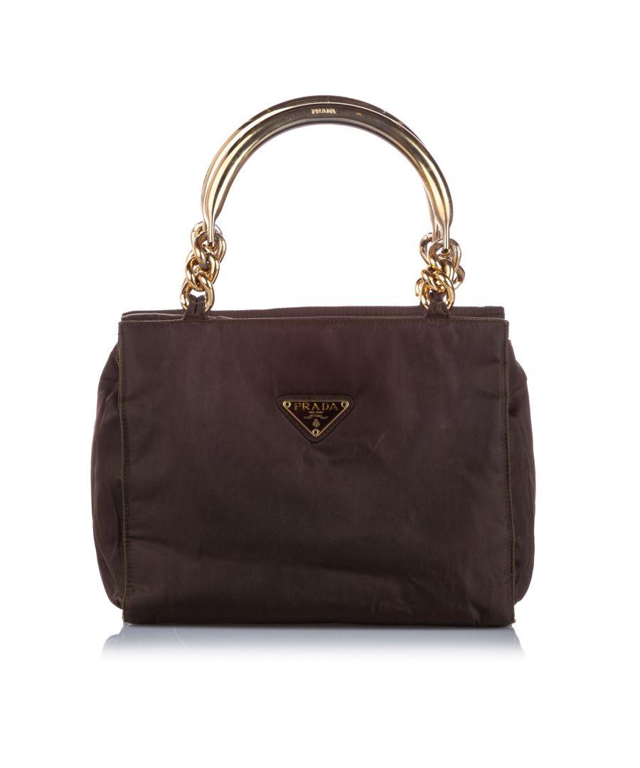 Image for Vintage Prada Tessuto Handbag Brown