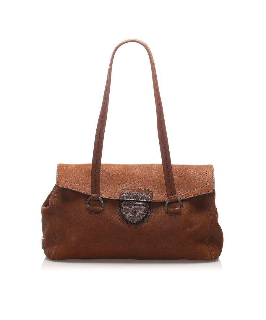 Image for Vintage Prada Nubuck Easy Handbag Brown