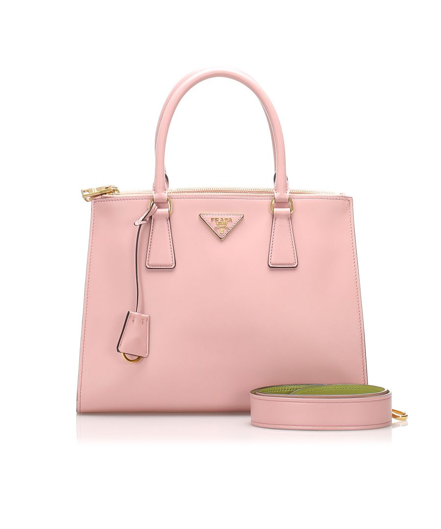 Image for Vintage Prada City Calf Galleria Satchel Pink