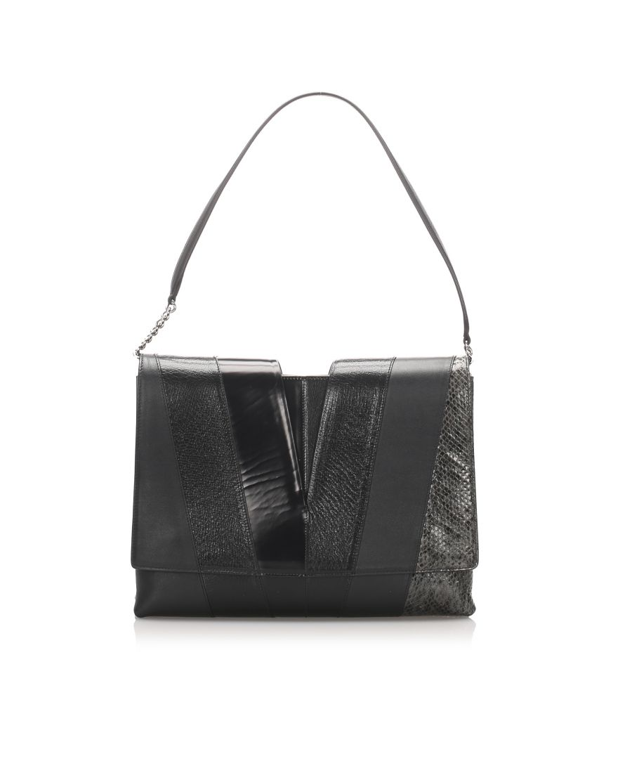 Image for Vintage Jil Sander Leather Shoulder Bag Black