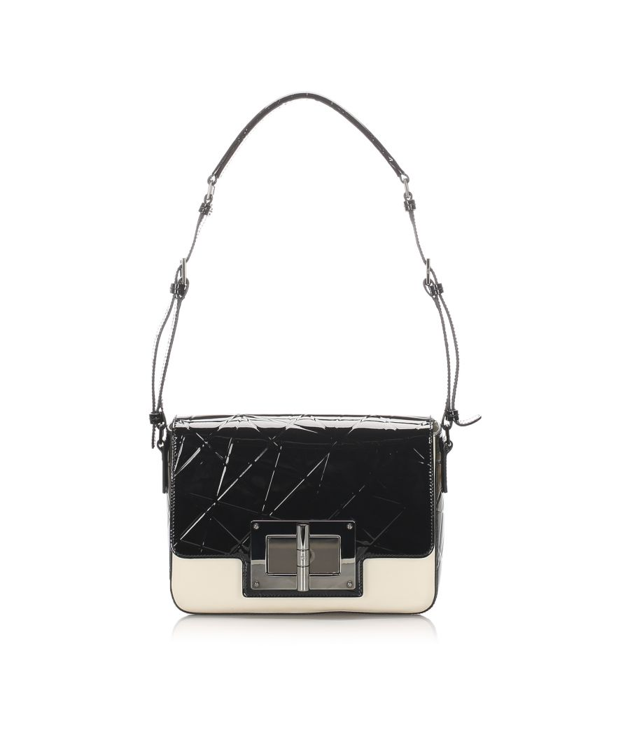 Image for Vintage Tom Ford Natalia Patent Leather Shoulder Bag Black