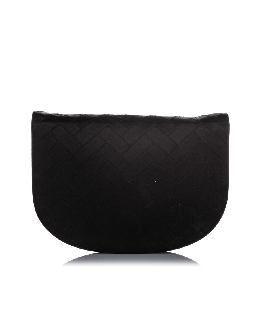 Image for Vintage YSL Satin Clutch Bag Black