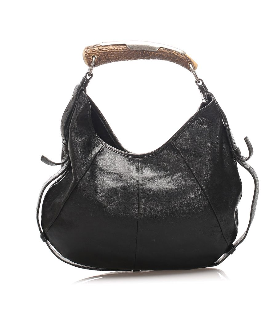 Image for Vintage YSL Mombasa Leather Handbag Black