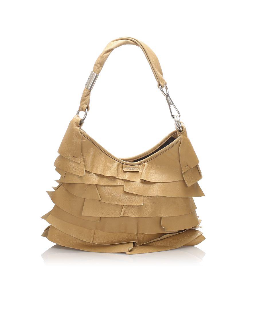 Image for Vintage YSL Leather Saint Tropez Shoulder Bag Brown