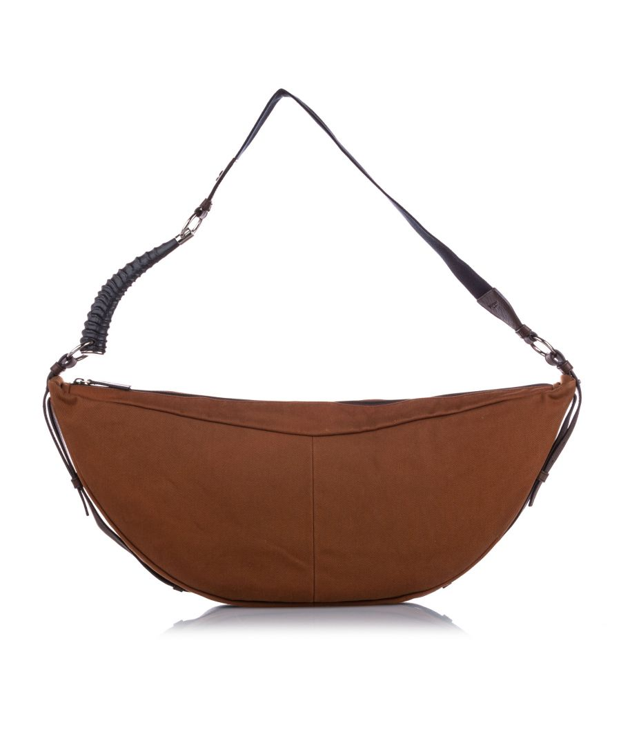 Image for Vintage YSL Mombasa Canvas Hobo Bag Orange