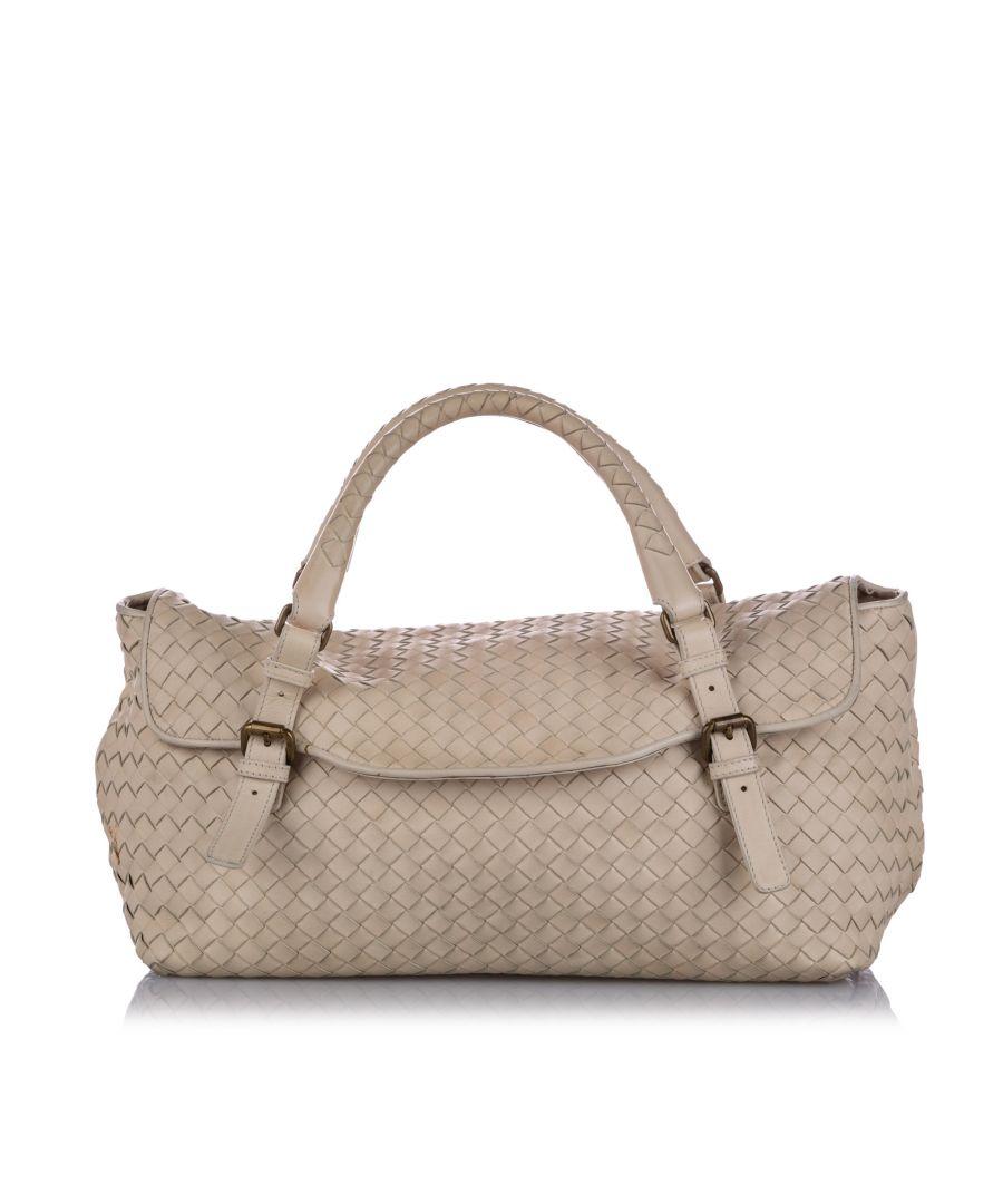Image for Vintage Bottega Veneta Intrecciato Leather Handbag Brown