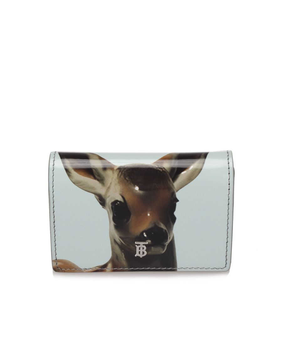 Image for Vintage Burberry Deer Leather Wallet on Chain White