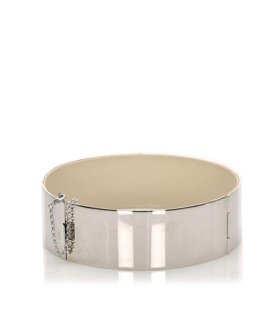 Image for Vintage Celine Manchette Metal Cuff Silver