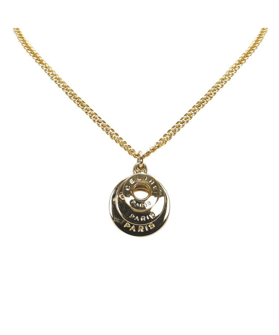 Image for Vintage Celine Gold Tone Necklace Gold