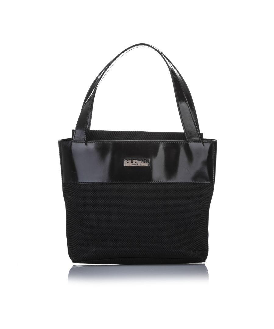 Image for Vintage Celine Fabric Handbag Black