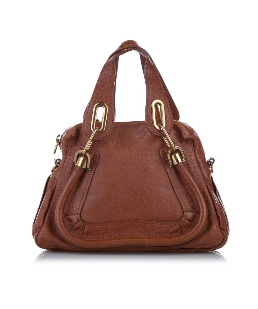 Image for Vintage Chloe Small Paraty Leather Satchel Brown