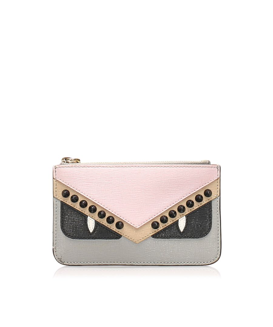 Image for Vintage Fendi Monster Leather Coin Pouch Pink