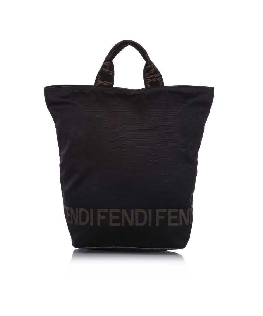 Image for Vintage Fendi Canvas Tote Bag Black