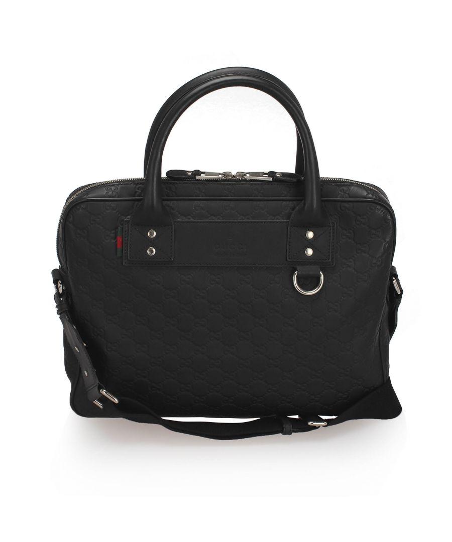 Image for Vintage Gucci Guccissima Business Bag Black