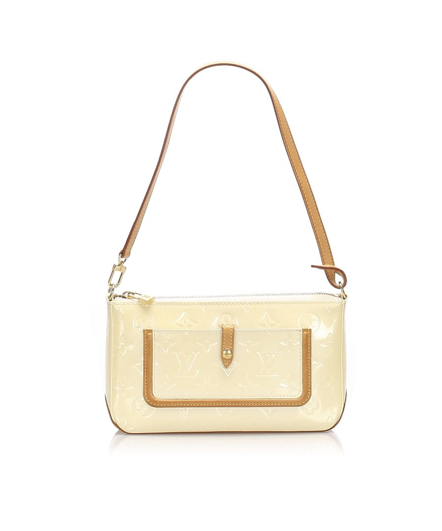 Image for Vintage Louis Vuitton Vernis Mallory White
