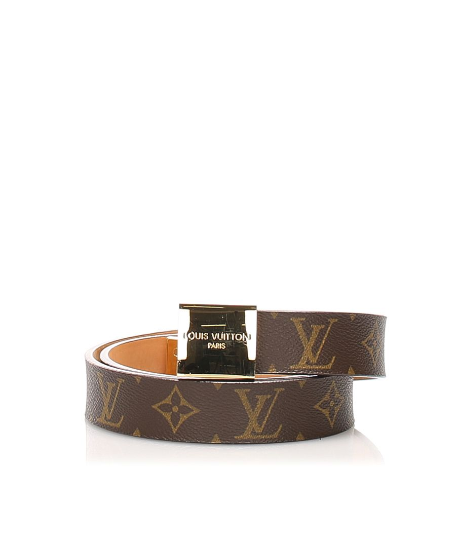 Image for Vintage Louis Vuitton Monogram Inventeur Belt Brown