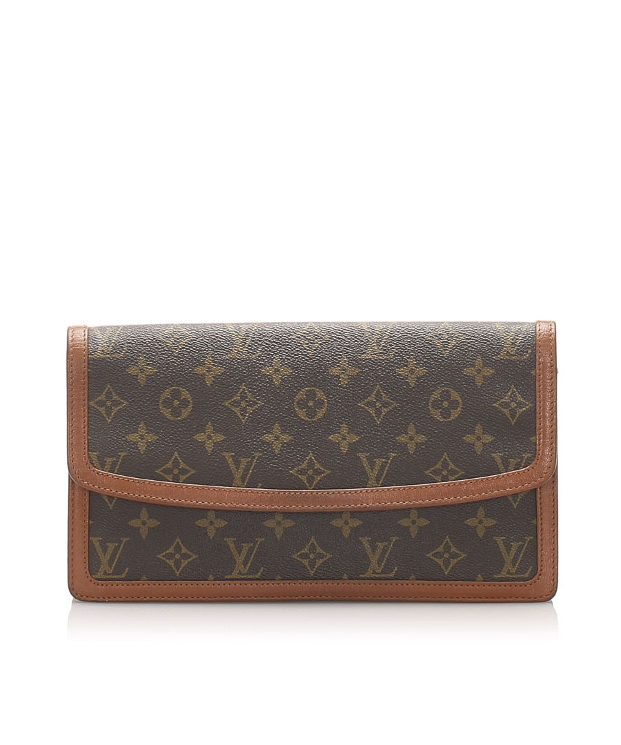 Image for Vintage Louis Vuitton Monogram Pochette Dame GM Brown
