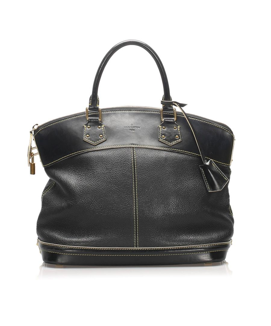 Image for Vintage Louis Vuitton Suhali Lockit MM Black